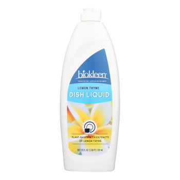 Biokleen Dish Liquid - Natural - Lemon Thyme - 25 Oz - Case Of 6