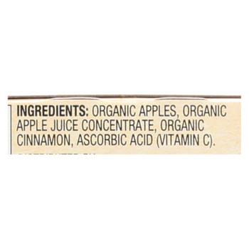 Santa Cruz Organic Apple Sauce - Cinnamon - Case Of 12 - 4 Oz.