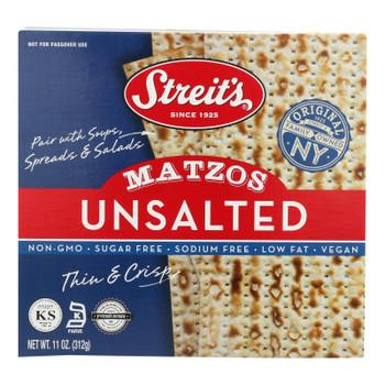 Streit's Matzo - Unsalted - Case Of 12 - 11 Oz