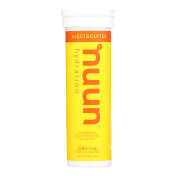Nuun Hydration Drink Tab - Active - Orange - 10 Tablets - Case Of 8
