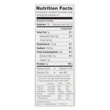 Saffron Road Lentil Crackers -sea Salt - Case Of 6 - 4.5 Oz