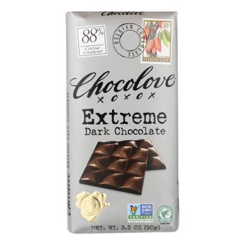 Chocolove Xoxox - Dark Chocolate Bar - Extreme - Case Of 12 - 3.2 Oz