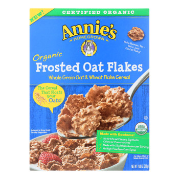 Annie's Homegrown Organic Frosted Oat Flakes Cereal - Case Of 10 - 10.8 Oz.