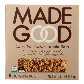Made Good Granola Bar - Chocolate Chip - Case Of 6 - 5 Oz.