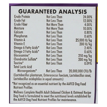 Wellness Pet Products Cat Food - Chicken And Oatmeal Recipe - Case Of 6 - 5 Lb.