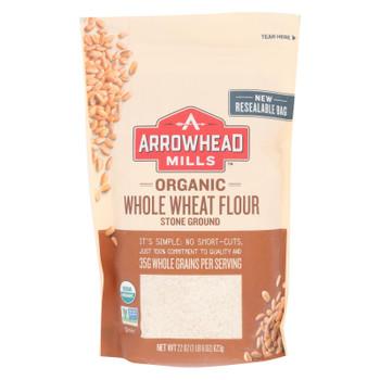 Arrowhead Mills - Organic Whole Wheat Flour - Stone Ground - Case Of 6 - 22 Oz.