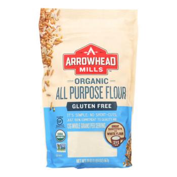 Arrowhead Mills - Organic Flour - All Purpose - Case Of 6 - 20 Oz