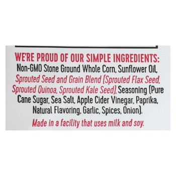 Way Better Snacks Tortilla Chips - Sriracha - Case Of 12 - 1 Oz.