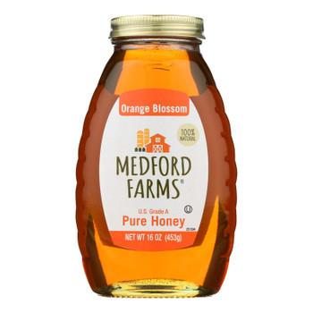 Medford Farms Honey - Orange Blossom - Case Of 12 - 16 Oz