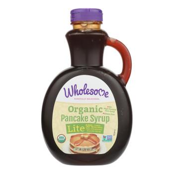 Wholesome Sweeteners Organic Syrup - Pancake Lite - Case Of 6 - 20 Fl Oz