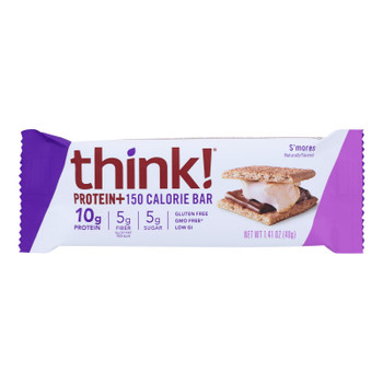 Think! Thin Protein And Fiber Bar - S'mores - Case Of 10 - 1.41 Oz