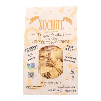 Xochitl Chips - Tortilla - White - Premium - Case Of 9 - 16 Oz