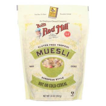 Bob's Red Mill - Cereal - Gluten Free Tropical Muesli - Case Of 4 - 14 Oz
