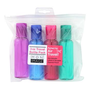 Mon Image Bottles - Tsa Travel - 4pk - Case Of 3 - 1 Kit