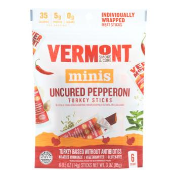 Vermont Smoke And Cure Mini Stick - Uncured Pepper - Case Of 8 - 6/.5 Oz