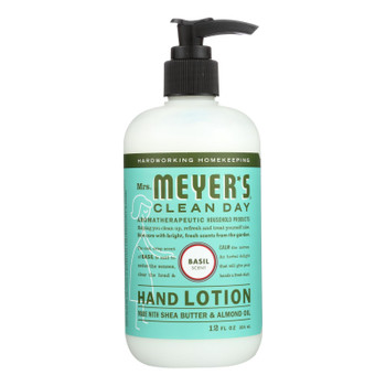 Mrs. Meyer's Clean Day - Hand Lotion - Basil - Case Of 6 - 12 Fl Oz