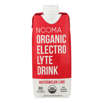 Nooma Electrolite Drink - Organic - Watermelon Lime - Case Of 12 - 16.9 Fl Oz