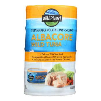 Wild Planet Wild Tuna - Albacore 4 Pack - Case Of 12 - 4/5 Oz