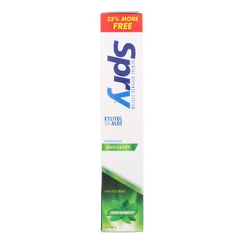 Spry Toothpaste - Spearmint - Fluoride - 5 Oz