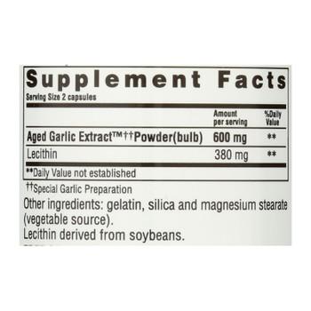 Kyolic - Aged Garlic Extract Cholesterol Formula 104 - 100 Capsules