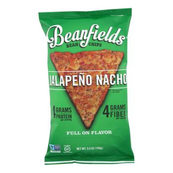 Beanfields - Bean And Rice Chips - Jalapeño Nacho - Case Of 6 - 5.5 Oz