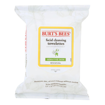 Burts Bees - Face Towelette - Sensitive - Case Of 3 - 30 Count