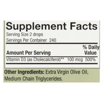 Nature's Answer - Vitamin D-3 Drops - 4000 Iu - 0.5 Fl Oz