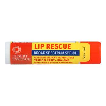 Desert Essence - Lip Balm - Tropical Fruit - Spf30 - Case Of 24 - .15 Oz