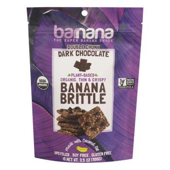Barnana Ban Brittle - Organic - Chocolate - Case Of 10 - 3.5 Oz