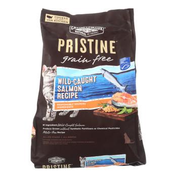 Castor And Pollux Pristine Grain Free Dry Cat Food - Wild-caught Salmon - Case Of 5 - 3 Lb.
