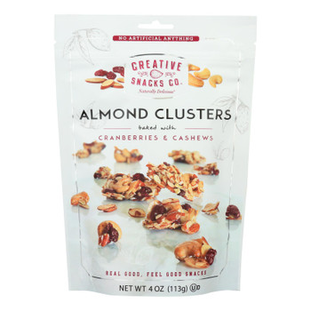 Creative Snacks - Almond Clusters - Cranberry Cashew - Case Of 12 - 4 Oz