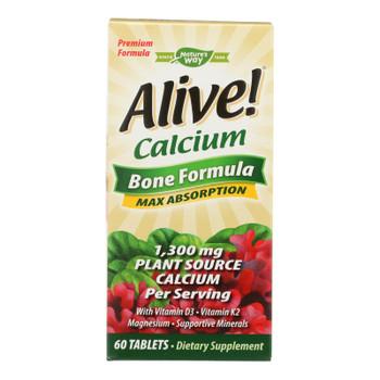 Nature's Way - Alive! Calcium Bone Formula - Max Absorption - 60 Tablets