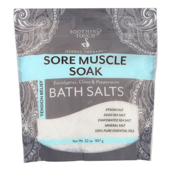 Soothing Touch Bath Salts - Sore Muscle Soak - 32 Oz