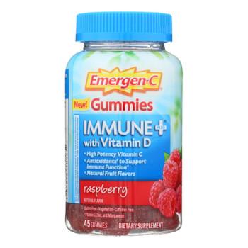 Emergen-c Gummies - Immune - Raspberry - 45 Count