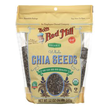 Bob's Red Mill - Organic Seeds - Chia - Case Of 6 - 12 Oz