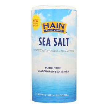 Hain Sea Salt - Case Of 8 - 21 Oz