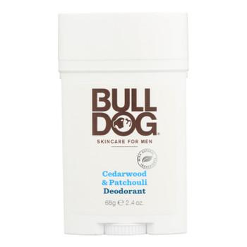 Bulldog Natural Skincare - Deodorant - Cedrwood - Patchouli - 2.4 Oz