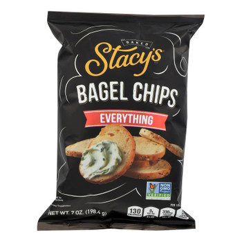 Stacy's Pita Chips Bagel Chips - Everything - Case Of 12 - 7 Oz