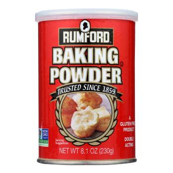 Rumford Baking Powder - Aluminum Free - Non-gmo - Case Of 12 - 8.1 Oz