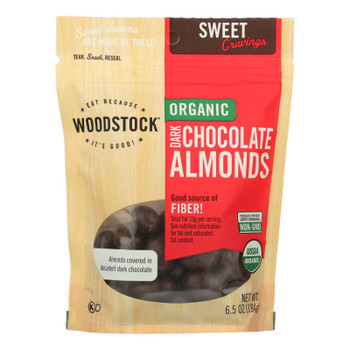 Woodstock Organic Dark Chocolate Almonds - 1 Each 1 - 6.5 Oz