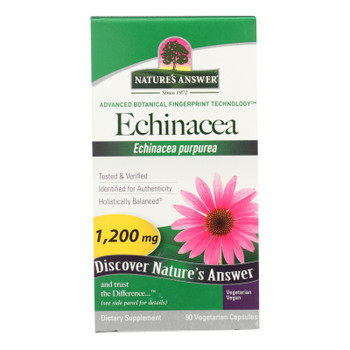 Nature's Answer - Echinacea Herb - 90 Vcaps