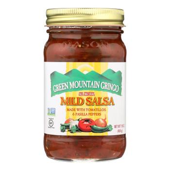Green Mountain Gringo Salsa - Mild - Case Of 6 - 16 Oz.