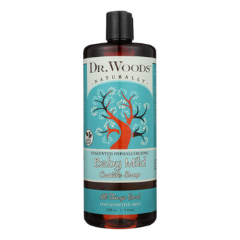 Dr. Woods Naturals Castile Soap - Baby Mild - Case Of 1 - 32 Oz.