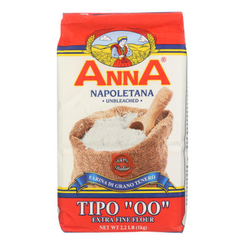 Anna Extra Fine Flour - Anna 00 Flour - Case Of 10 - 2.2 Lb