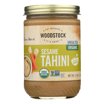 Woodstock Unsalted Organic Sesame Tahini - 1 Each 1 - 16 Oz