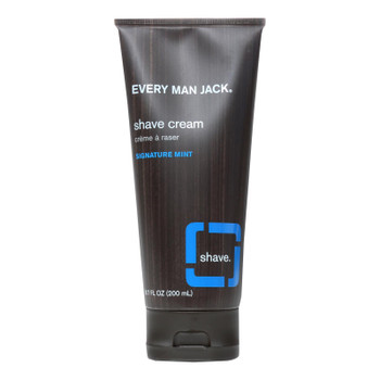 Every Man Jack Shaving Cream - Signature Mint - Case Of 1 - 6.7 Fl Oz.