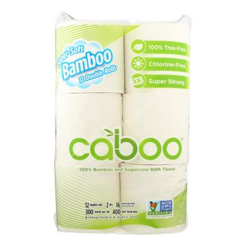 Caboo - Bath Tissue - Tissue Bath 300 Sheet - Case Of 6 - 12 Pk
