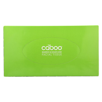 Caboo - Facial Tissue - Flat Box - Case Of 24 - 1 Count