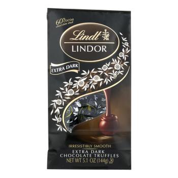 Lindt - Truffles X-drk Chocolate Bag - Case Of 6-5.1 Oz