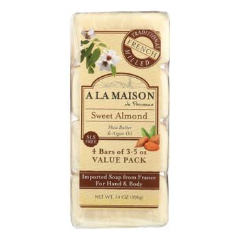A La Maison - Bar Soap - Sweet Almond - 4/3.5 Oz
